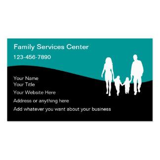 A família presta serviços de manutenção a cartões  cartões de visitas