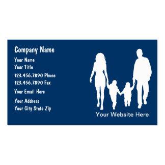 A família presta serviços de manutenção a cartões  modelos cartões de visita