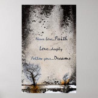 A fé, amor, sonha a coleção - poster