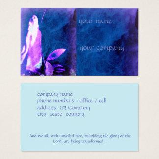 A fé baseou o cartão de visita, praying a figura
