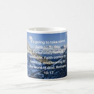 A fé é caneca disponível