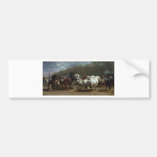A feira de cavalo por Rosa Bonheur Adesivo Para Carro