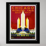 A feira de mundo de Chicago do poster das viagens