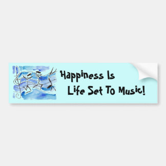 A felicidade do ~ das notas musicais é vida ajusta adesivo para carro