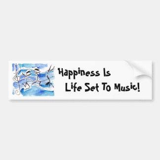 A felicidade do ~ das notas musicais é vida ajusta adesivo