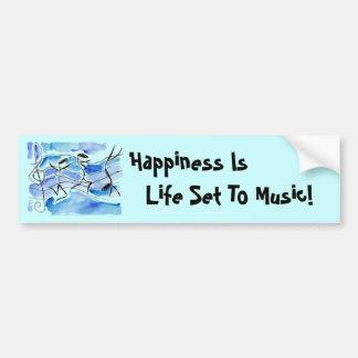 A felicidade do ~ das notas musicais é vida ajusta adesivos