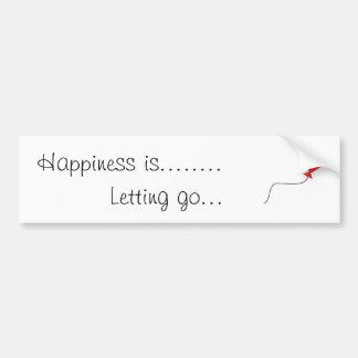 A felicidade é ..... adesivo para carro