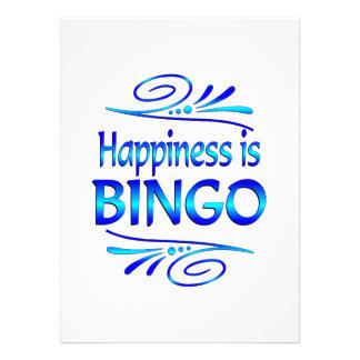 A felicidade é BINGO Convites Personalizado
