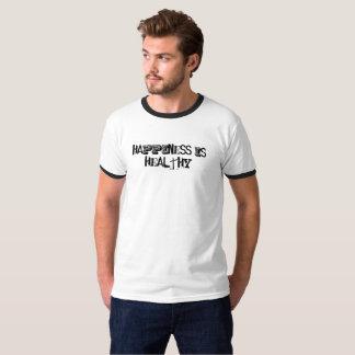 A felicidade é camisa saudável de T