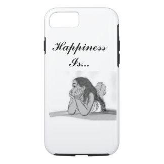 A felicidade é capa de telefone