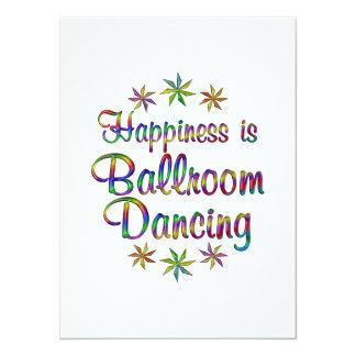 A felicidade é salão de baile convites personalizados