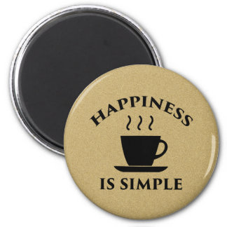 A felicidade é simples imã