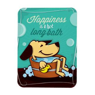 A felicidade é um ímã longo quente do banho de