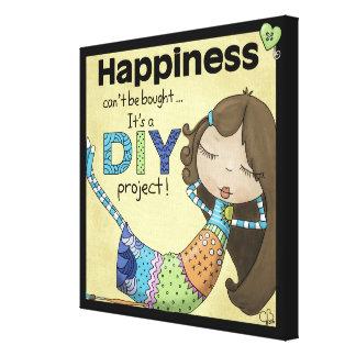 A felicidade é um projeto de DIY Impressão Em Tela