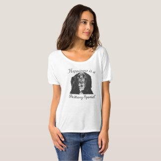 A felicidade é uma camisa do Spaniel de Brittany