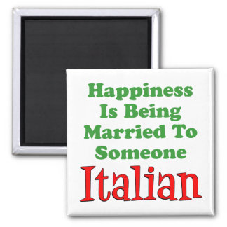 A felicidade está sendo casada a alguém italiano imã