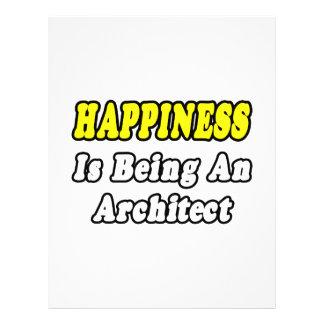 A felicidade está sendo um arquiteto panfletos personalizado