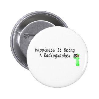 A felicidade está sendo um técnico de radiologia bóton redondo 5.08cm