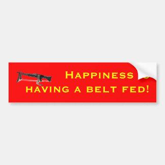 A felicidade está tendo uma correia alimentada! adesivo para carro