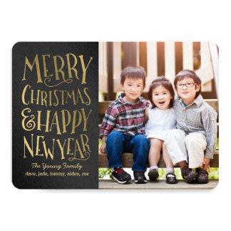 A feliz deseja cartões de foto de Natal editáveis Convite 12.7 X 17.78cm