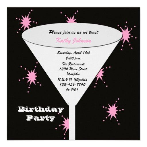 A festa de aniversário adulta convida -- Seu brind Convite Personalizados