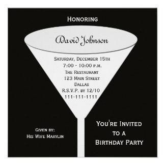 A festa de aniversário adulta convida --  Um brind Convites Personalizado