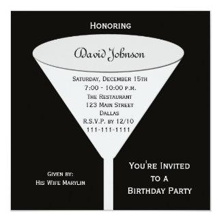 A festa de aniversário adulta convida --  Um Convite Quadrado 13.35 X 13.35cm