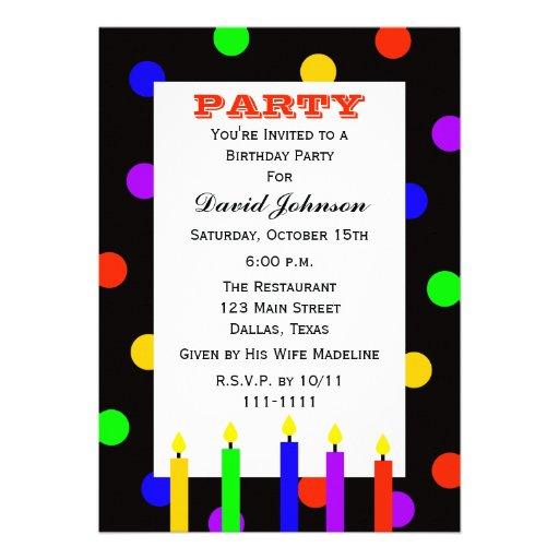 A festa de aniversário adulta convida -- Velas do  Convites