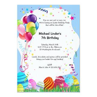 A festa de aniversário azul do Domingo de Páscoa Convite Personalizados