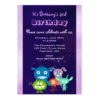 A festa de aniversário bonito da criança das convite 12.27 x 17.78cm
