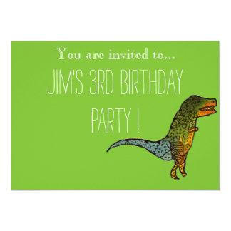 A festa de aniversário bonito do menino novo do convite 12.7 x 17.78cm