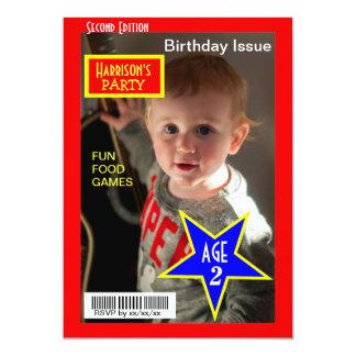 A festa de aniversário da foto do compartimento convites personalizados
