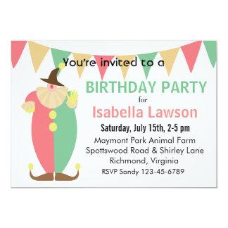 A festa de aniversário da menina do tema do convite 12.7 x 17.78cm