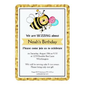 A festa de aniversário das crianças pouco Bumble a Convites