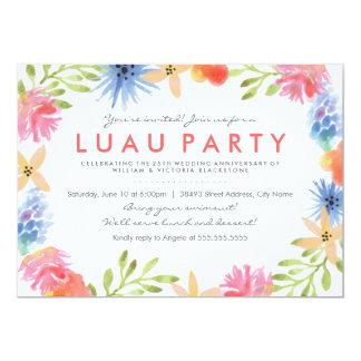 A festa de aniversário das flores de paraíso convite 12.7 x 17.78cm