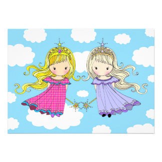 A festa de aniversario de meninas gêmea convida