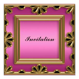 A festa de aniversário de mulheres elegantes do convite quadrado 13.35 x 13.35cm