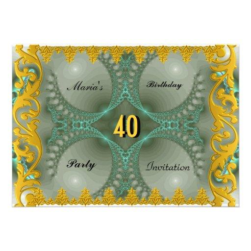 A festa de aniversário de mulheres elegantes dos a convites