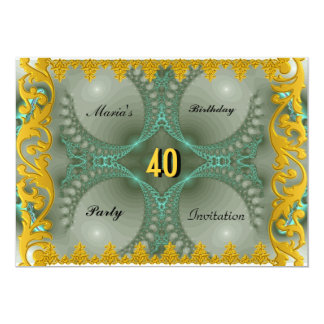 A festa de aniversário de mulheres elegantes dos convite 12.7 x 17.78cm