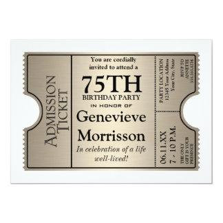 A festa de aniversário de prata do estilo 75th do convite personalizado