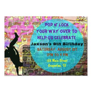 A festa de aniversário do anos 80 da dança de convites personalizados