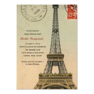 A festa de aniversário do doce dezesseis de Paris Convite 12.7 X 17.78cm