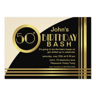 A festa de aniversário do estilo 50th do 1920 de convites