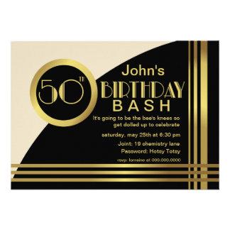 A festa de aniversário do estilo 50th do 1920 de H
