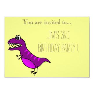 A festa de aniversário do menino novo do convite 12.7 x 17.78cm