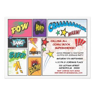 A festa de aniversário dos meninos do super-herói  convite personalizado