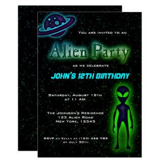 A festa de aniversário estrangeira legal super convite 12.7 x 17.78cm