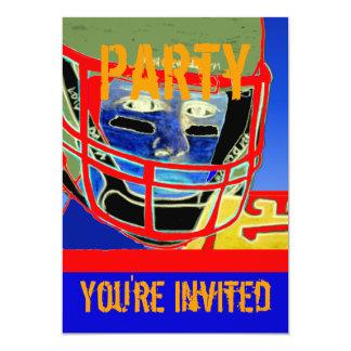 A festa de aniversário nova do futebol personaliza convite