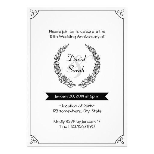 A festa de aniversário preta & branca do casamento convite