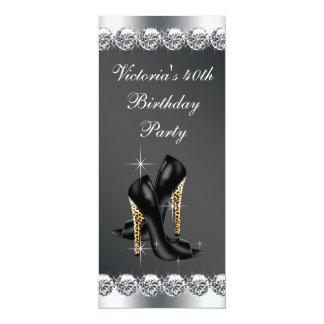 A festa de aniversário preta chique da mulher